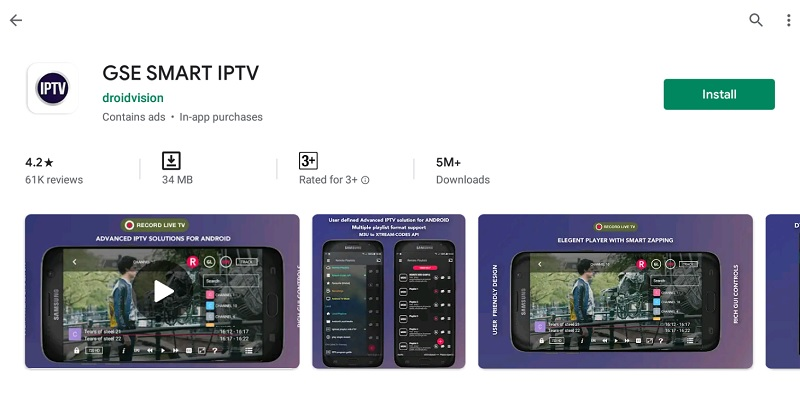 install GSE Smart IPTV For PC