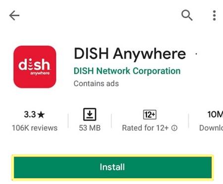 Cast DISH Anywhere on Chromecast
